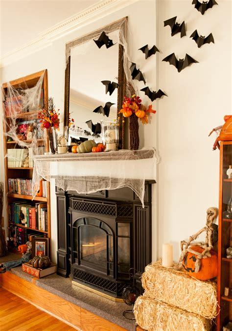halloween deko bastelideen mit fledermaeusen katzen