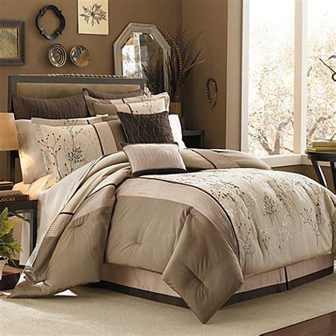 manor hill lark brown  piece complete comforter set