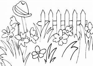 simple garden coloring pages - Google Search | girls mural ...