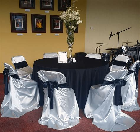 grey satin folding chair cover luxe event rental