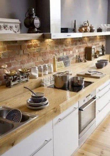 cuisine brique un mur en brique c 39 est stylé en déco de cuisine