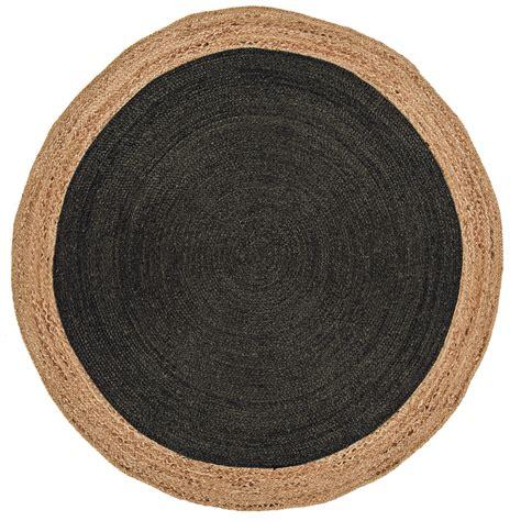 tapis rond gris pas cher hoze home