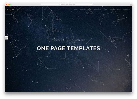 One Page Website Template 40 Best Html5 One Page Website Templates 2018 Colorlib