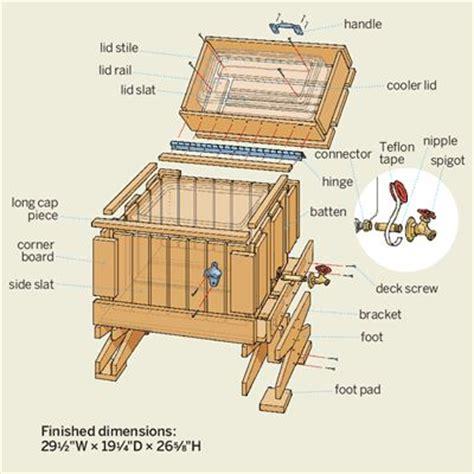 toy box wood   build cedar ice chest