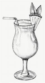 Drawing Glass Wine Cocktail Pineapple Drawings Hand Easy Pencil Sketch Rawpixel Drawn Transparent Food Still Coloring Pages Printable Draw Cool sketch template