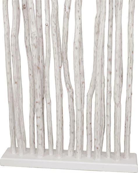 paravent en bois flotte bois de mangrove blanchi