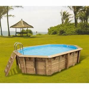 Piscine Bois Ubbink : ubbink azura piscine bois bleue 3 55x5 50x1 20 m achat ~ Mglfilm.com Idées de Décoration