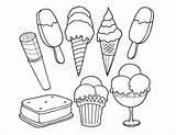 Ice Coloring Cream Printable Sandwich Mewarnai Sorvete Colorir Desenhos Gambar Boyama Dondurma Stand Colouring Gidalar Ucretsiz Ekim Template Coloringpagebase Mermaid sketch template