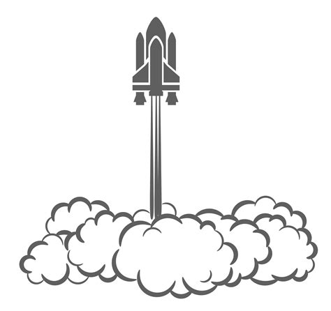 space shuttle clipart black and white cfire smoke clipart panda free clipart images