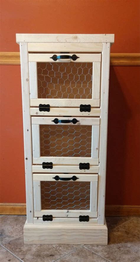 Bread Pantry Vegetable Bin 3 Door Kitchen Pantry Organizer And