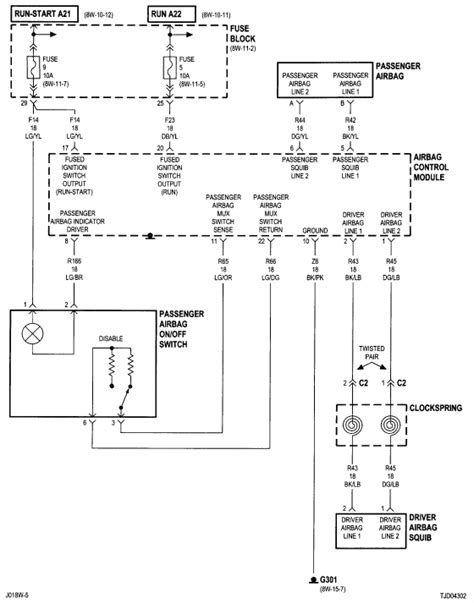 Need Wiring Diagram Forair Bag Circuit For Jeep