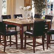 Granite Top Dining Table And Chairs by Steve Silver Montibello 5 Piece Marble Top Counter Height Square Dining Table