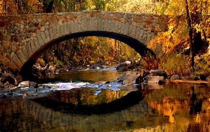 Fall Screensavers Autumn Windows Wallpapers Bridge Outdoors