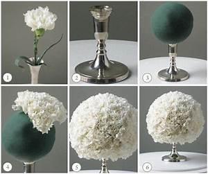 {diy Wedding Ideas} White Carnation Centerpiece Ball