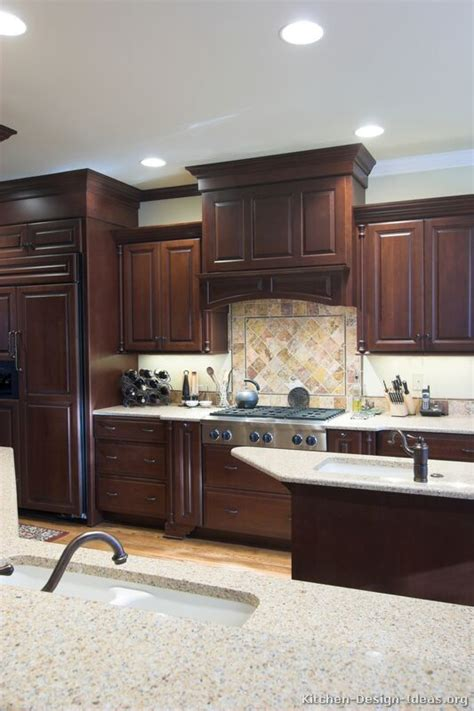 cherry color kitchen cabinets pictures of kitchens traditional wood kitchens cherry 5370