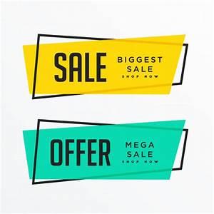 Banners de venda geométrica com espaço de texto | Baixar ...
