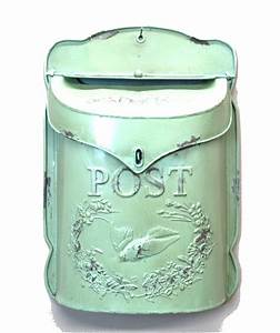 Stamped tin letter mail box pressed embossed post office w for Embossed tin letter box