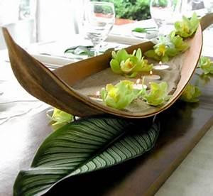 Deco Table Tropical : tropical centerpiece flor del aqua ~ Teatrodelosmanantiales.com Idées de Décoration
