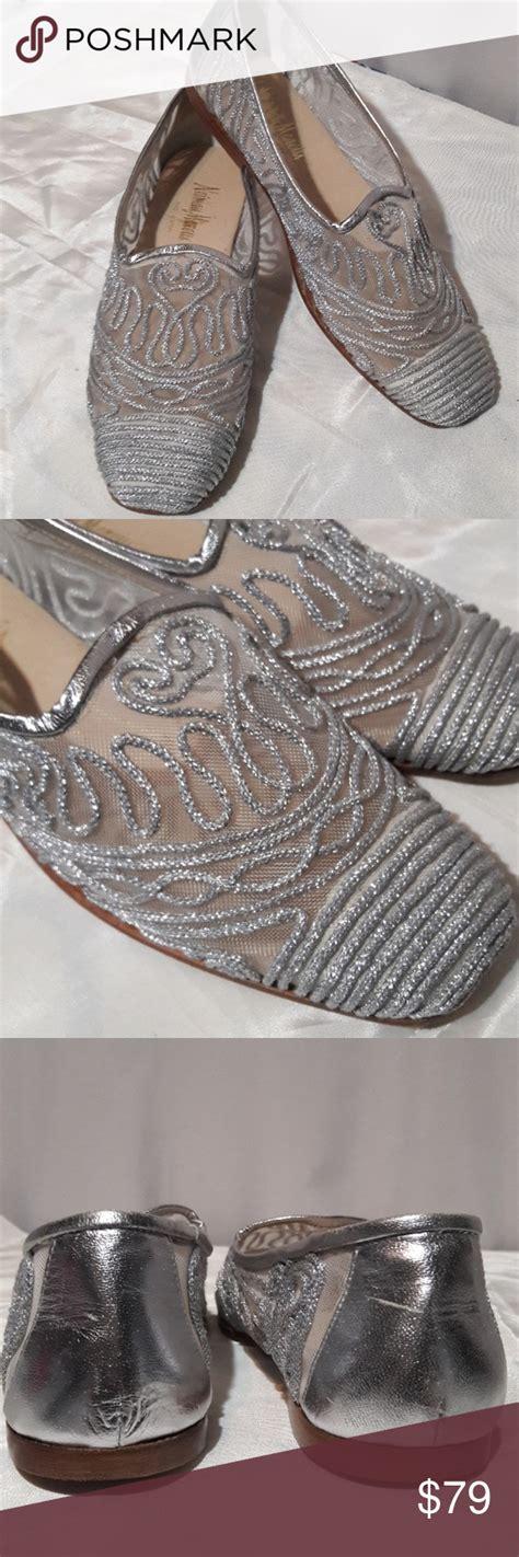 foto de Neiman Marcus silver mesh flats 8N Neiman marcus shoes