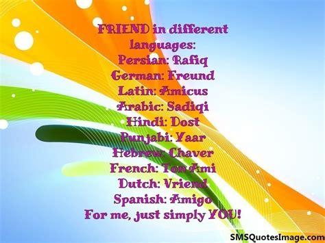 friend   languages friendship sms quotes image