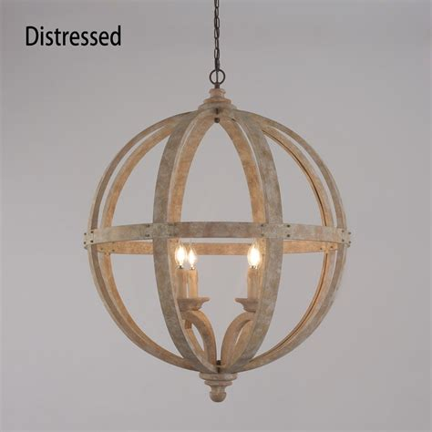Globe Chandelier Lighting by Rustic Style 4 Light Wooden Globe Chandelier Vintage