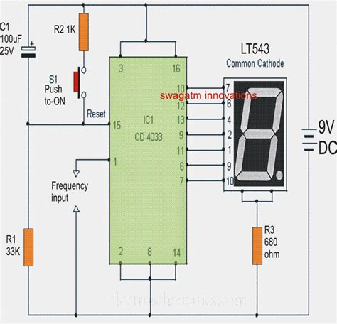Simple Frequency Counter Circuit Diagram Using Single