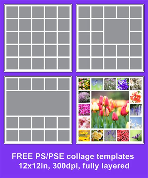 Free Photoshop Templates by Free Photo Collage Template Your Pics