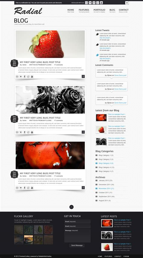 Freebie: Radial Blog Site Template (PSD) - PremiumCoding