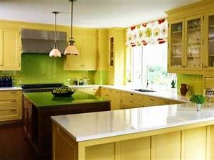 20 modern kitchens decorated in yellow and green colors With kitchen colors with white cabinets with music metal wall art