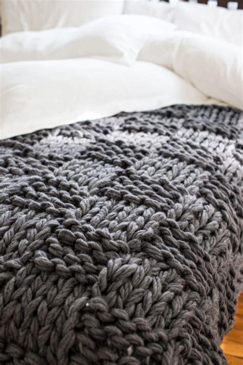 pouf pour chambre chunky arm knit blanket pattern flax twine