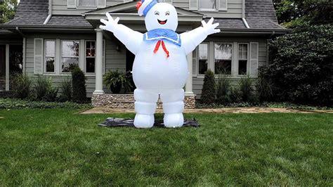 marshmellow man halloween inflatable youtube