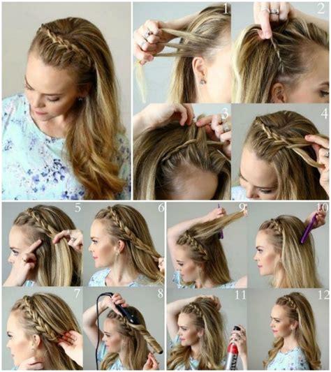 abendfrisuren lange haare abendfrisuren selber machen lange haare halboffen zopf frisuren haare halboffen