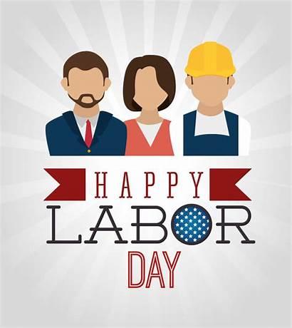Labor Vector Worker American Illustration Card Illustrations