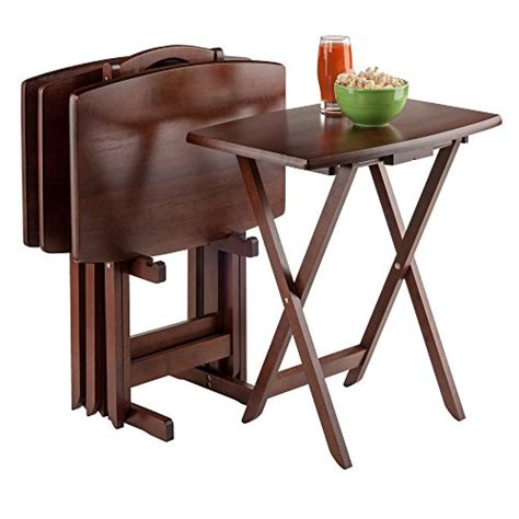 winsome oversize snack table set walnut buy online in