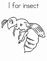 Coloring Pages Bug Printable Bee sketch template