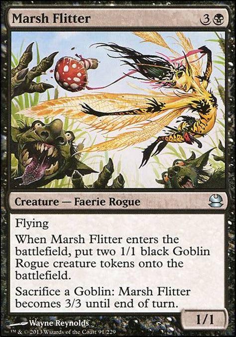 mtg faerie deck modern marsh flitter mma mtg card