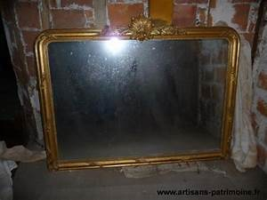 Miroir Doré Ancien : grand miroir ancien dor artisans du patrimoine ~ Teatrodelosmanantiales.com Idées de Décoration