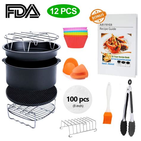 fryer air emerald pressure xl accessory recipe 8qt cookbook piece airfryer walmart inch simple living which kit cozyna 3qt gowise