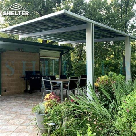 xm bbq awning  flat roof design  patio awning sunshield