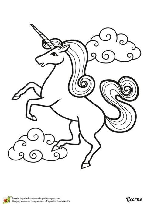 la cuisine de louisa a colorier dessin d une licorne debout avec des