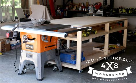 garage work bench diy workbench