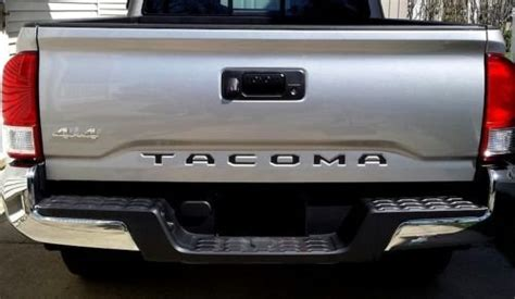 toyota tacoma black tailgate letters inserts