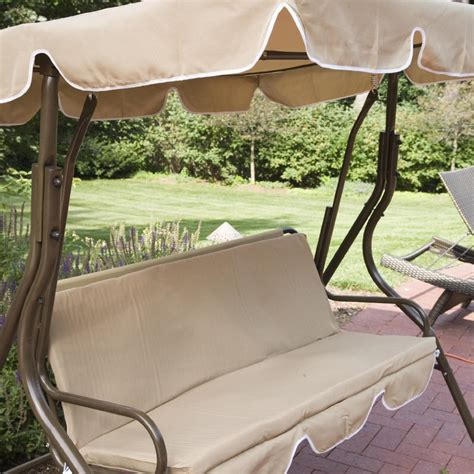 outdoor patio swing with canopy 2 person covered patio swing w adjustable tilt canopy