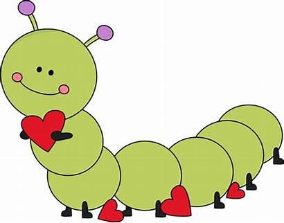 Caterpillar Valentine Clipart Clip Valentines Cartoon Heart