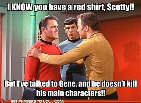 Star Trek Red Shirt Meme - funny star trek quotes quotesgram