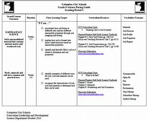 Ccs Grade 6 Science Pacing Guide Grading Period 2 Earth
