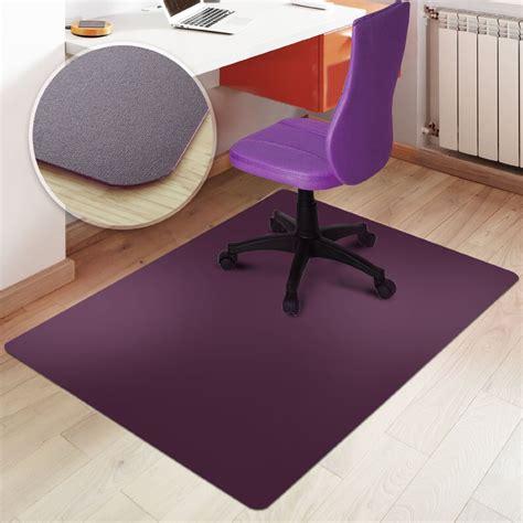 desk chair floor mat for carpet rectangular office chair mat purple hard floor protection