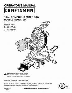 Download Craftsman 315 17461 Owners Manual Free
