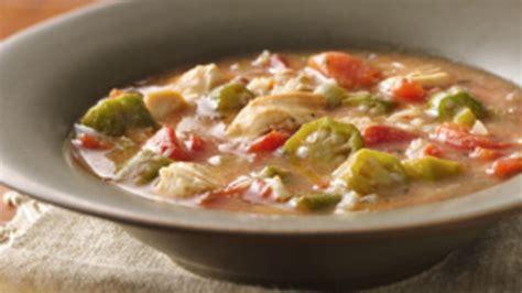 lot of 6 gumbo soup creole chicken gumbo soup recipe from pillsbury com