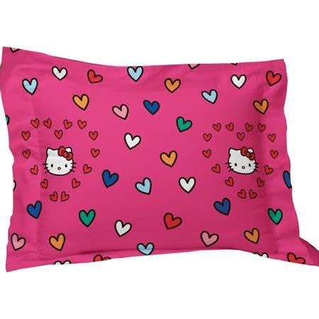 hello kitty pillow hello kitty pillow sham sanrio free time bedding pillow